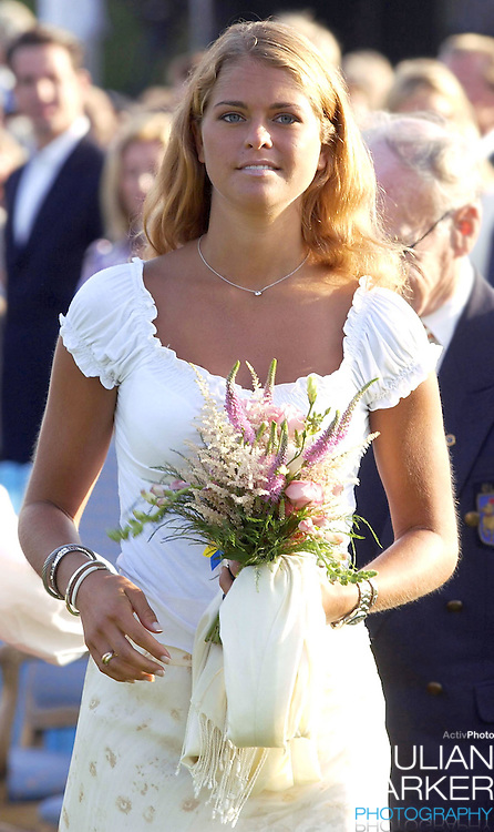 CONCERT IN BERGHOLM TO CELEBRATE CROWN PRINCESS VICTORIA.OF SWEDEN'S 25TH BIRTHDAY.  14/7/02 . PICTURE: UK PRESS  (ref 5105-25).PRINCESS MADELEINE OF SWEDEN