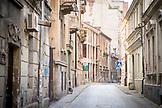 SERBIA, Belgrade, A quiet street in downtown Belgrade Eastern Europe