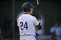 Northwestern Wildcats second baseman Willie Bourbon (24) at bat during a game against the Saint Leo Lions on March 4, 2016 at North Charlotte Regional Park in Port Charlotte, Florida.  Saint Leo defeated Northwestern 5-3.  (Mike Janes/Four Seam Images)