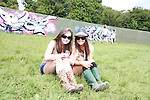 Orla Costello and Aisling Connaughton on Day 2 of the Oxegen Festival, Punchestown, Co.Kildare...(Photo credit should read Jenny Matthews www.newsfile.ie)....This Picture has been sent you under the conditions enclosed by:.Newsfile Ltd..The Studio,.Millmount Abbey,.Drogheda,.Co Meath..Ireland..Tel: +353(0)41-9871240.Fax: +353(0)41-9871260.GSM: +353(0)86-2500958.email: pictures@newsfile.ie.www.newsfile.ie.