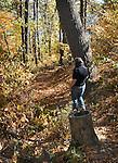 on a visit to Sojourner Truth Park, in Ulster Landing, NY, on Wednesday, October 19, 2016. Photo by Jim Peppler; Copyright Jim Peppler 2016.