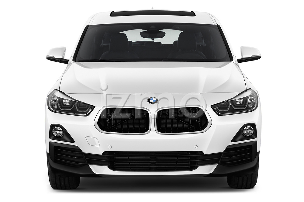Car photography straight front view of a 2018 BMW X2 Base 5 Door SUV