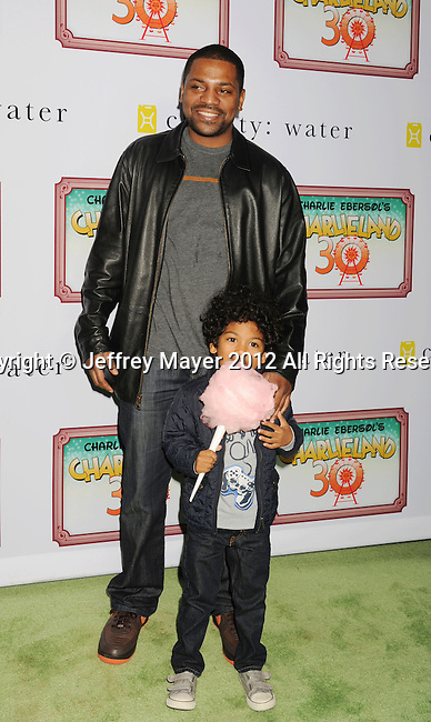 LOS ANGELES, CA - DECEMBER 08: Mekhi Phifer and son attend Charlie Ebersol's 'Charlieland' Birthday Party And Charity: Water Fundraiser on December 8, 2012 in Los Angeles, California.