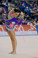 Liubouv Charkashyna (BLR) performs with the rope during the final of the 2nd Garantiqa Rythmic Gymnastics World Cup held in Debrecen, Hungary. Sunday, 07. March 2010. ATTILA VOLGYI