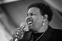 Aaron Neville performing on the Gospel stage in the Gospel Tent at the New Orleans Jazz and Heritage Festival on May 1, 2005 in New Orleans, Louisiana. USA.