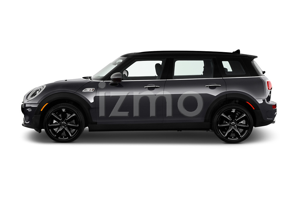 Car Driver side profile view of a 2017 MINI Cooper Clubman-S-ALL4 5 Door Wagon Side View