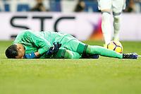 Real Madrid's Keylor Navas injured during La Liga match. March 1,2017. (ALTERPHOTOS/Acero) /NORTEPHOTOmex