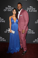 "20 September 2016 - Hollywood, California - James Anderson and Carissa Rosario. ""Queen Of Katwe"" Los Angeles Premiere held at the El Capitan Theater in Hollywood. Photo Credit: AdMedia"