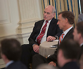 White House Chief of Staff John Kelly listens as United States President Donald J. Trump hosts the 2018 White House Business Session with  Governors, February 26, 2018, at The White House in Washington, DC. <br /> Photo by Chris Kleponis/ CNP