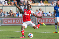 San Jose, CA - Thursday, July 28, 2016: Arsenal defeated MLS All-Stars 2-1 at Avaya Stadium. Joel Campbell scored the first goal for Arsenal.