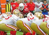 Sept. 13, 2009; Glendale, AZ, USA; Arizona Cardinals safety (24) Adrian Wilson against the San Francisco 49ers at University of Phoenix Stadium. San Francisco defeated Arizona 20-16. Mandatory Credit: Mark J. Rebilas-