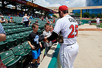 Indianapolis Indians Will Craig (25) signs autographs before an International League game against the Syracuse Mets on July 17, 2019 at Victory Field in Indianapolis, Indiana.  Syracuse defeated Indianapolis 15-5  (Mike Janes/Four Seam Images)