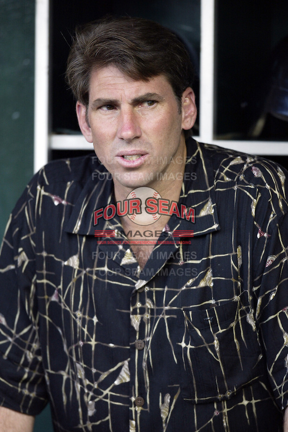 Pittsburgh Pirates General Manager David Littlefield before a 2002 MLB season game against the Los Angeles Angels at Angel Stadium, in Anaheim, California. (Larry Goren/Four Seam Images)