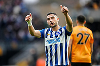 7th March 2020; Molineux Stadium, Wolverhampton, West Midlands, England; English Premier League, Wolverhampton Wanderers versus Brighton and Hove Albion; Neal Maupay of Brighton & Hove Albion applauds the Brighton & Hove Albion fans