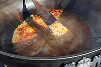 Goulash being prepared in a m,assive pan.  Hungarian Regional Gastronomic Festival 2009 - Gyor ( Gy?r ) Hungary