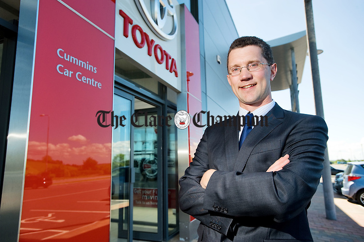 Jason Cummins, director of Cummins Car Centre, Ballymaley, Ennis. Photograph by John Kelly.