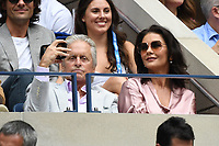 FLUSHING NY- SEPTEMBER 08: Michael Douglas and Catherine Zeta-Jones are seen watching Rafael Nadal Vs Daniil Medvedev during the men's finals on Arthur Ashe Stadium at the USTA Billie Jean King National Tennis Center on September 8, 2019 in Flushing Queens. <br /> CAP/MPI04<br /> ©MPI04/Capital Pictures