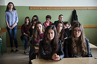 Serbia. Bujanovac or Bujanoc (Albanian: Bujanoci) is a town and municipality located in the Pčinja District of southern Serbia. «Sezai Surroi» Secondary School. Classroom. The students are all from Albanian ethnicity, except for two young Serbian women seated on the second row. The Pestalozzi Children's Foundation supports intercultural workshops whose goals are promoting direct contacts Serbian and Albanian students in order to break the nonexistent relationships between both communities (due to recent history and conflicts).  Bujanovac is located in the geographical area known as Preševo Valley. The Pestalozzi Children's Foundation (Stiftung Kinderdorf Pestalozzi) is advocating access to high quality education for underprivileged children. It supports in Bujanovac a project called» Our towns, our schools». 16.4.2018 © 2018 Didier Ruef for the Pestalozzi Children's Foundation