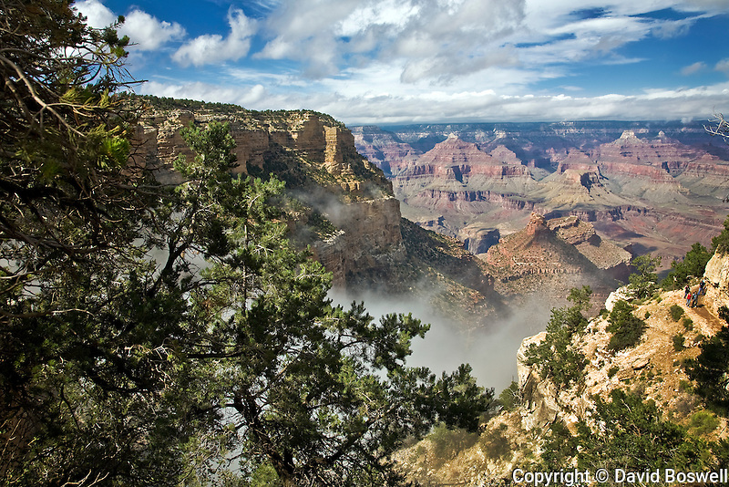 Clouds over the Grand Canyon, taken along the South Rim near Bright Angel Trail.
