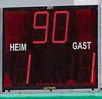 13.07.2019, Parkstadion, Zell am Ziller, AUT, FSP, Werder Bremen vs. Darmstadt 98<br /> <br /> im Bild<br /> Anzeigetafel / Endstand, Feature, <br /> im dritten Spiel von drei auf 30 Min, <br /> <br /> Foto © nordphoto / Ewert