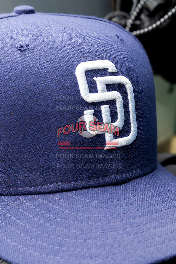 San Diego Padres hat on May 10, 2015 at Nelson Wolff Stadium in San Antonio, Texas. The Missions defeated the Hooks 6-5. (Andrew Woolley/Four Seam Images)