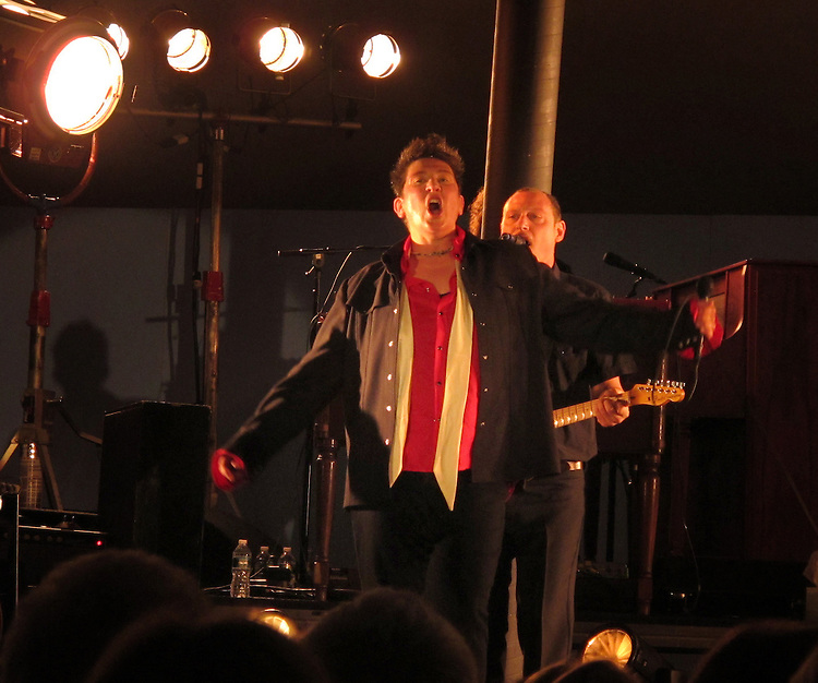 k.d. lang and the Siss Boom Bang band performing at the Belleayre Music Festival in Highmount, NY on Sunday, July 3, 2011. Photo © Jim Peppler 2011.