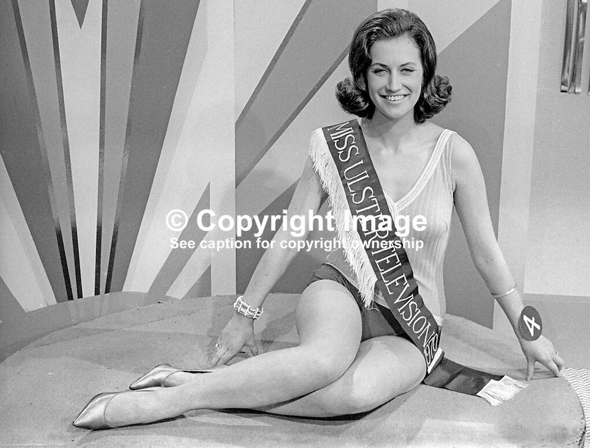 Valerie Lemon, Miss UTV 1970. Valerie was a former Ulster Dairy Queen. April 1970. 197004000125<br />