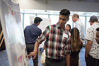 "Atif Malik '17 presents ""Integrating Niche Modeling and eDNA to Detect Cryptic Endangered Haliotis""<br /> Occidental College's Undergraduate Research Center hosts their annual Summer Research Conference on Aug. 4, 2016. Student researchers presented their work as either oral or poster presentations at the final conference. The program lasts 10 weeks and involves independent research in all departments.<br /> (Photo by Marc Campos, Occidental College Photographer)"