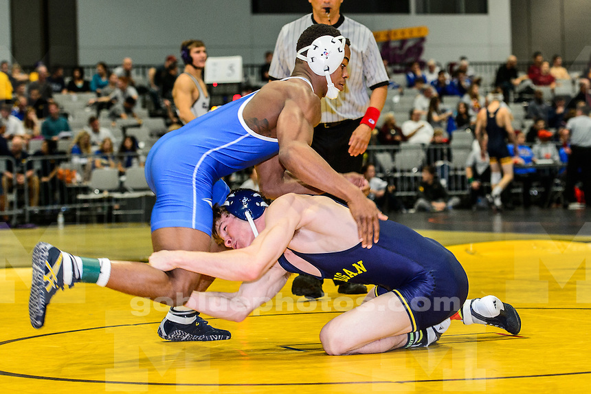 LAS VEGAS, NV - Michigan wrestlers compete at the Cliff Keen Invitational Wrestling Tournament in Las Vegas, NV, December 5, 2014.