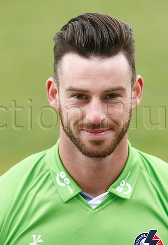 08.04.2016. Old Trafford, Manchester, England. Lancashire County Cricket Press Call. Lancashire all-rounder Jordan Clark.
