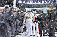 PHILADELPHIA, PA - DEC 9, 2017: Army Black Knights offensive lineman Mike Johnson (59) leads the team out onto the field before Army and Navy game at Lincoln Financial Field Philadelphia, PA. Army defeated Navy 14-13 to win the Commander in Chief Cup. (Photo by Phil Peters/Media Images International)