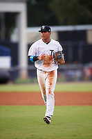 Tampa Yankees shortstop Gleyber Torres (11) jogs to the dugout during a game against the Daytona Tortugas on August 5, 2016 at George M. Steinbrenner Field in Tampa, Florida.  Tampa defeated Daytona 7-1.  (Mike Janes/Four Seam Images)