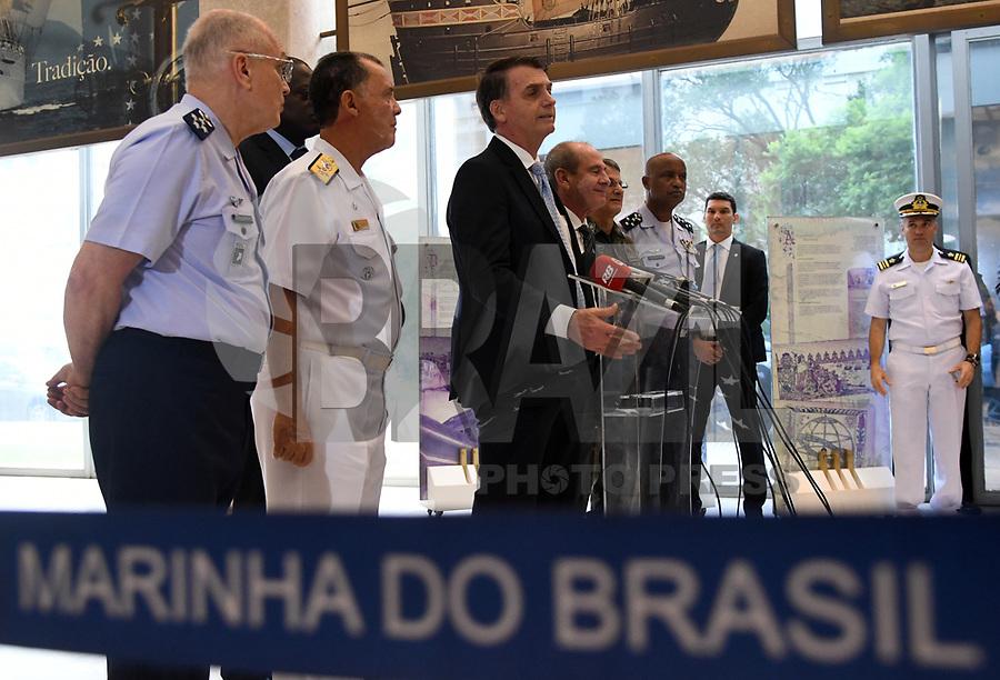 BRASÍLIA, DF, 22.11.2018 – AGENDA-BOLSONARO – O presidente eleito, Jair Bolsonaro durante visita ao Ministério da Marinha na manhã desta quinta-feira, 22. (Foto: Ricardo Botelho/Brazil Photo Press)