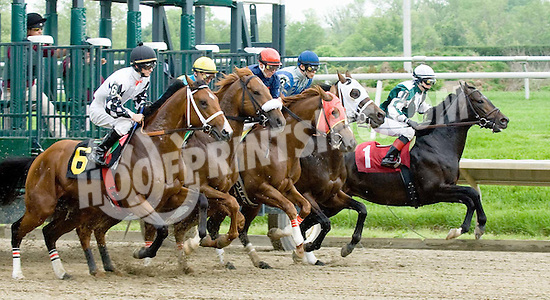 leaving the gate in the 2nd race on 5/16/09 at Delaware Park