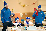 St Johnstone players took some festive cheer to Fairview School in Perth gving out selection boxes and gifts to the pupils&hellip;Zander Clark and David Wotherspoon having fun with secondary school pupils Noah (left) and Aaron during a cookery lesson <br />