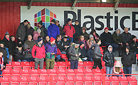 Lincoln City fans enjoy the pre-match atmosphere<br /> <br /> Photographer Andrew Vaughan/CameraSport<br /> <br /> The EFL Sky Bet League One - Accrington Stanley v Lincoln City - Saturday 15th February 2020 - Crown Ground - Accrington<br /> <br /> World Copyright © 2020 CameraSport. All rights reserved. 43 Linden Ave. Countesthorpe. Leicester. England. LE8 5PG - Tel: +44 (0) 116 277 4147 - admin@camerasport.com - www.camerasport.com