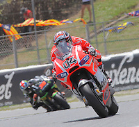 16.06.2013 Barcelona, Spain. Aperol Grand Prix of Catalonia. Picture show  Andrea Dovizioso (DUcati) in action during Moto GP Racing  at Circuit de Catalunya
