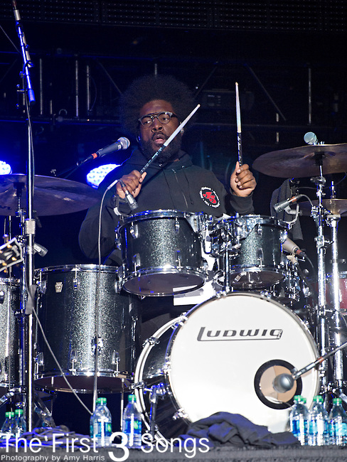 Questlove (real name Ahmir Thompson) of The Roots performs during the 2014 Essence Festival at the Mercedes-Benz Superdome in New Orleans, Louisiana.