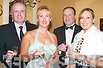 ENJOYING: Enjoying the Niall Mellon Township Trust Charity Gala Ball in Ballygarry House Hotel & Spa, Tralee on Friday night, l-r: Ian Duggan,Claire Murphy,kevin and Deirdre Loughran. ..v....   Copyright Kerry's Eye 2008