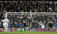 Reading's Marc McNulty see's his late penalty saved by Leeds United's Bailey Peacock-Farrell<br /> <br /> Photographer Rich Linley/CameraSport<br /> <br /> The EFL Sky Bet Championship - Leeds United v Reading - Tuesday 27th November 2018 - Elland Road - Leeds<br /> <br /> World Copyright © 2018 CameraSport. All rights reserved. 43 Linden Ave. Countesthorpe. Leicester. England. LE8 5PG - Tel: +44 (0) 116 277 4147 - admin@camerasport.com - www.camerasport.com