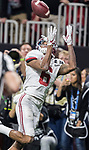 Alabama Crimson Tide wide receiver DeVonta Smith (6) catches the winning touchdown against the Georgia Bulldogs in overtime of the NCAA College Football Playoff National Championship at Mercedes-Benz Stadium on January 8, 2018 in Atlanta. Alabama defeated Georgia 26-23 in overtime.  Photo by Mark Wallheiser/UPI