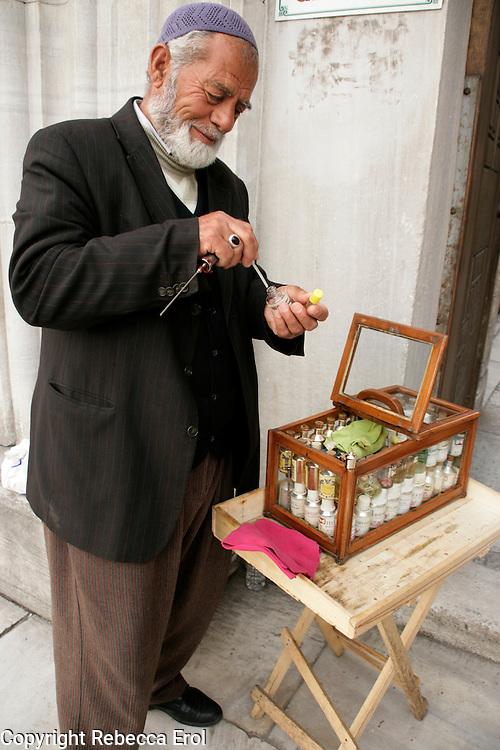 Perfume seller, Istanbul, Turkey