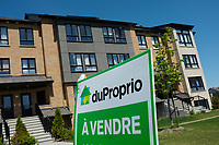 Brossard,  CANADA - 2014  File Photo -  Condos for sale on Montreal's Southshore.<br /> <br /> <br /> Agence Quebec Presse - Pierre Roussel