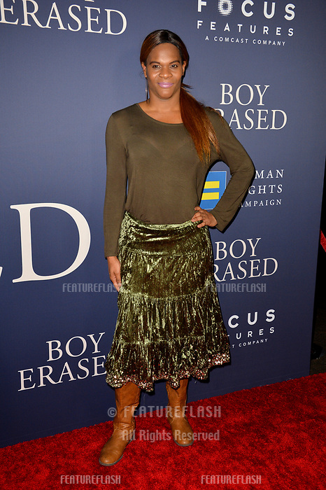 LOS ANGELES, CA. October 29, 2018: Blossom Brown at the Los Angeles premiere for &quot;Boy Erased&quot; at the Directors Guild of America.<br /> Picture: Paul Smith/Featureflash
