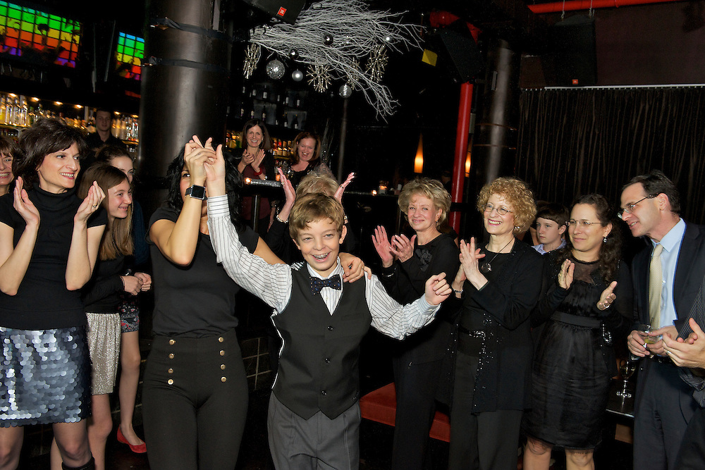 The Bar Mitzvah boy dancing