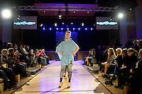 Sanorita AweSUMO, New Zealand Eco Fashion Exposed, Eco Designer Runway at Notre Dame Performing Arts Centre, Lower Hutt, New Zealand on Saturday 26 July 2014. <br /> Photo by Masanori Udagawa. <br /> www.photowellington.photoshelter.com.