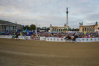 Competitors race during the National Galop equestrian festival in Budapest, Hungary on September 16, 2012. ATTILA VOLGYI