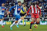League Santander 2017-2018 - Game: 15.<br /> RCD Espanyol vs Girona FC: 0-1.<br /> David Lopez vs Christian Stuani.