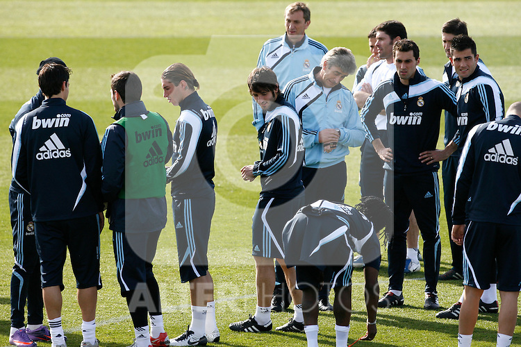 Madrid (11/03/10).-Entrenamiento del Real Madrid....© Alex Cid-Fuentes/ ALFAQUI..Madrid (11/03/10).-Training session of Real Madrid c.f....© Alex Cid-Fuentes/ ALFAQUI.
