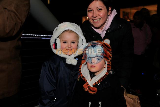 Chloe and Daniel Hanley santa arriving at scotch hall.<br /> Picture: Fran Caffrey www.newsfile.ie